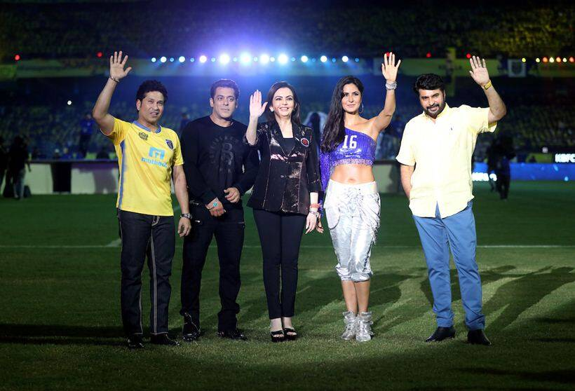 isl 2017-18, indian super league, salman khan, katrina kaif, isl opening ceremony, kerala blasters, atk, indian express