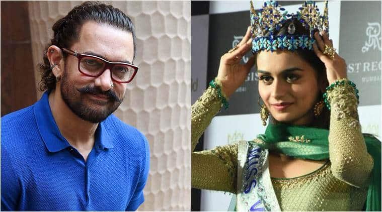 Miss WorldManushi Chhillar expressed her wish to work with superstar Aamir Khan