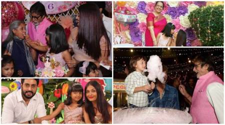 Aaradhya Bachchan's perfect birthday cake to AbRam's candyfloss fun; see all inside photos, videos