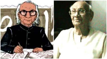 abdul qavi desnavi, abdul qavi desnavi poet, urdu poet abdul qavi, abdul qavi urdu author, abdul qavi desnavi google doodle, abdul qavi desnavi 87th birthday, indian express, indian express news
