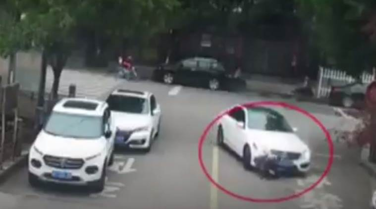 accident videos, chilling accident videos, scary accident videos, boy saved from accident, miraculous saving, indian express, indian express news