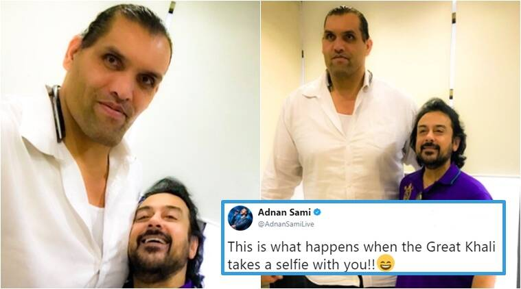 adnan sami, the great khali, adnan sami trolled, twitter trolling, social media viral, adnan sami and khali together, Indian express, Indian express news
