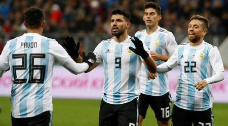 Sergio Aguero gives Argentina win over Russia in friendly