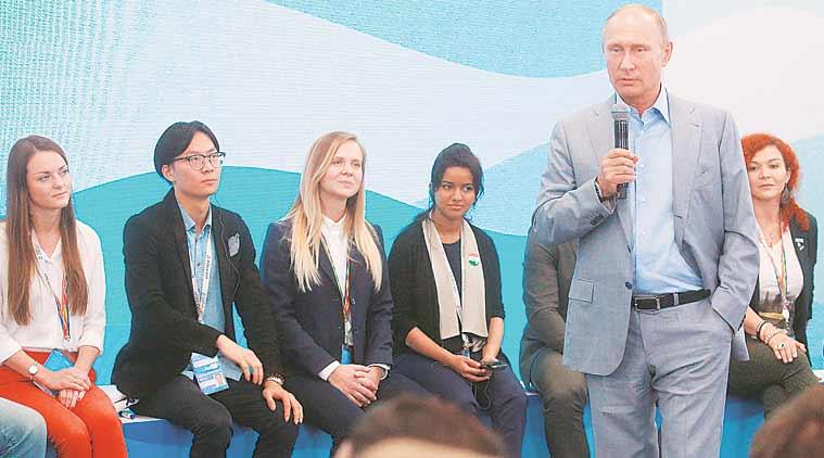 Vladimir Putin, AIIMS junior doctor, AIIMS, Russian President Vladimir Putin, Dr Rachna Bhat, World Festival of Youth, AIIMS india, health news, indian express