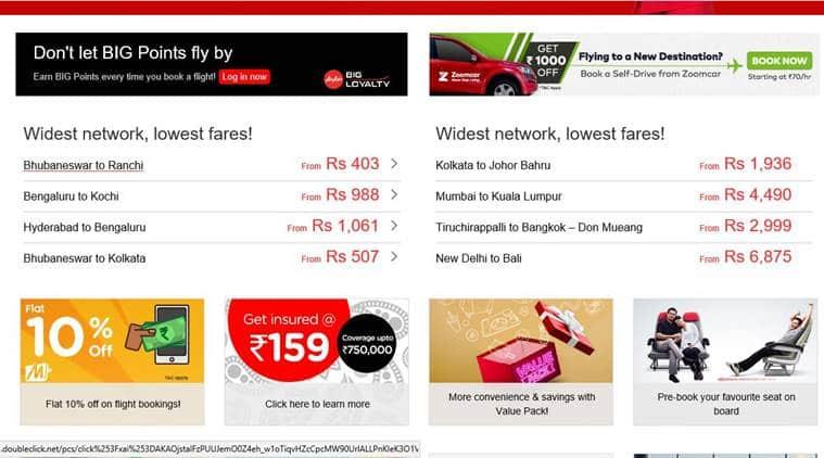 Air Asia, Air Asia sale, Air Asia discount, Air Asia Rs 99 tickets, AirAsia flight booking