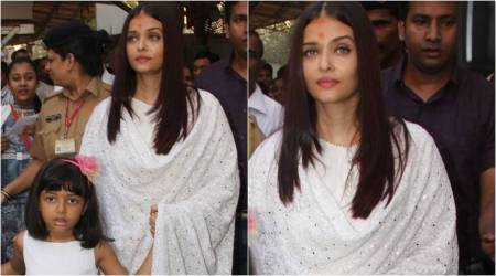 When Aishwarya Rai Bachchan and daughter Aaradhya twinned in white; see pics