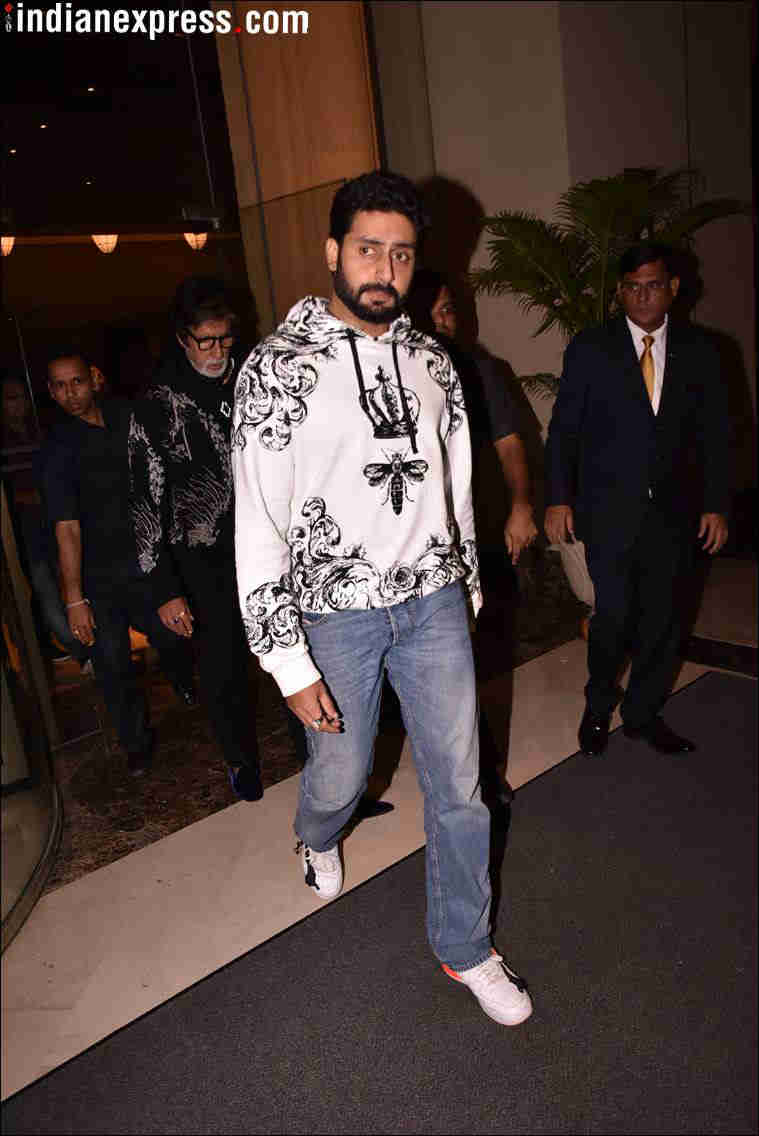 abhishek bachchan at aaradhya's birthday party
