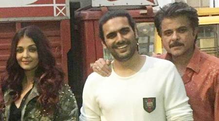 Aishwarya Rai Bachchan and Anil Kapoor clicked on the sets of Fanney Khan