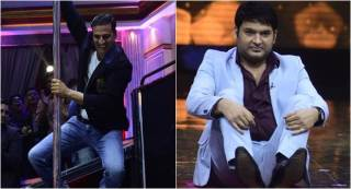 From Kapil Sharma's funny antics to Akshay Kumar's pole dance, here's a glimpse of The Great Indian Laughter Challenge's upcoming episode
