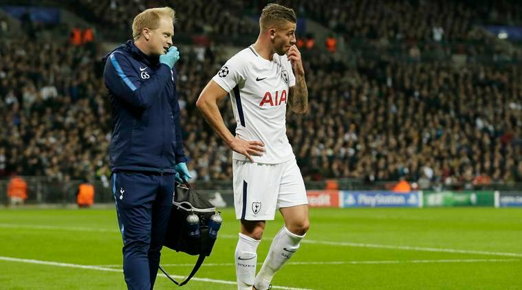 Toby Alderweireld: Tottenham defender out until after Christmas
