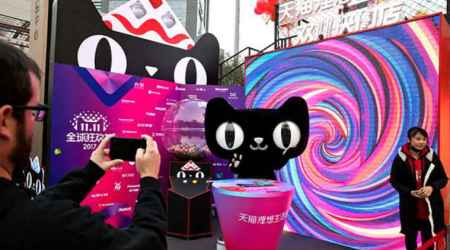 Alibaba Singles' Day breaks sales record with 11 hours to spare