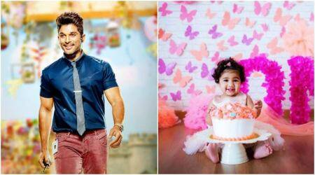 Naa Peru Surya actor Allu Arjun celebrates daughter Allu Arha's birthday in Singapore, see photos