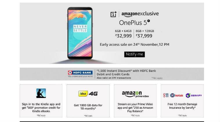 OnePlus 5T open sales start from Friday
