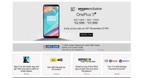 OnePlus 5T early access sale on Amazon at 12 PM today: Price, launch offers, features, etc