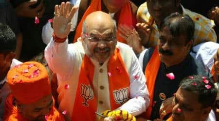 Gujarat elections, Amit Shah campaign, Amit Shah in Naranpura, Amit Shah roadshow, Narendra Modi, Gujarat development, Ami Shah on Patidars, Hardik Patel, Maldhari community, Ahmedabad news