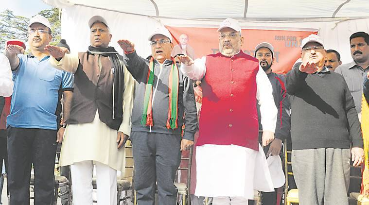 himachal pradesh assembly elections 2017, BJP, prem kumar dhamal, himachal BJP CM face, BJP chief ministerial face Himachal, Himachal elections 2017, indian express, india news