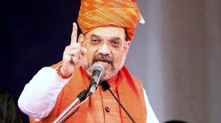 Gujarat assembly polls, BJP mass contact, BJP rally, Amit Shah, Gujarat elections, Gujarat polls, Gujarat news, indian express news