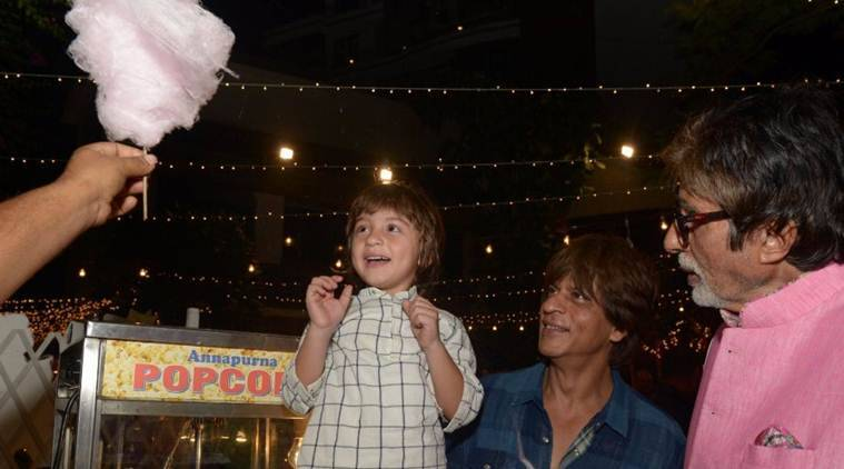 AbRam think's Amitabh Bachchan is Shah Rukh Khan's father