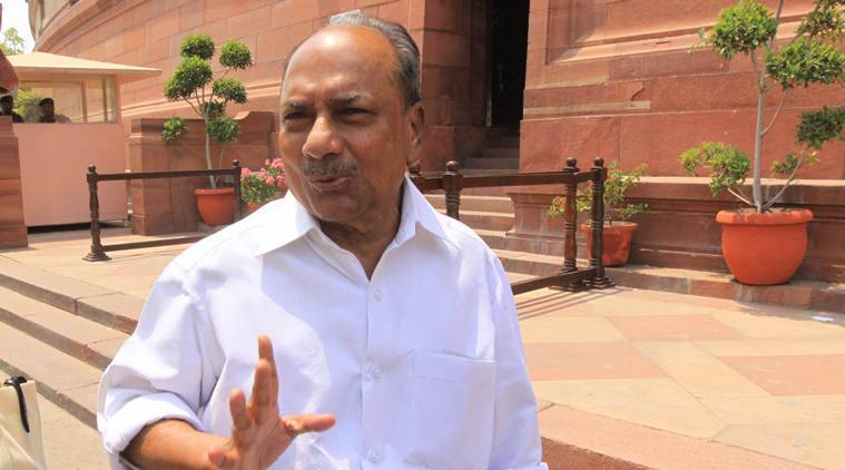 AK Antony was admitted to the Ram Manohar Lohia Hospital on Wednesday.