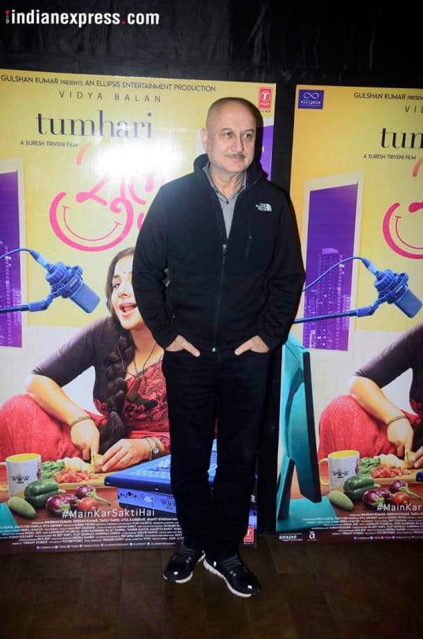 Anupam Kher Tumhari Sulu screening