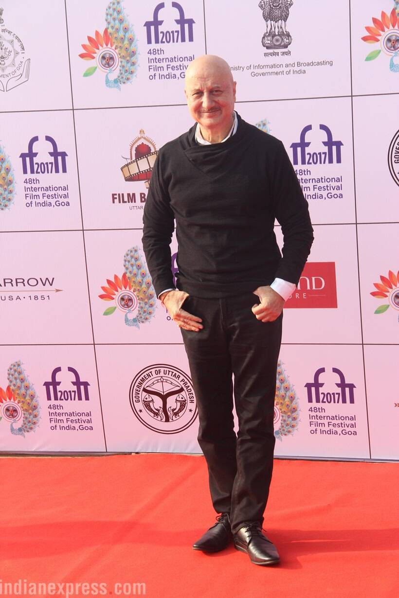 Anupam Kher attended IFFI 2017.