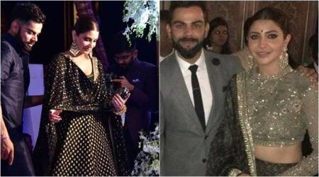Anushka Sharma's love affair with black Sabyasachi lehengas continues at Zaheer Khan-Sagarika Ghatge wedding
