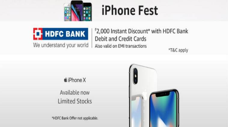 Amazon Iphone Fest Apple Iphone 7 At Rs 41 999 Iphone Se At Rs 20 000 And More Technology News The Indian Express