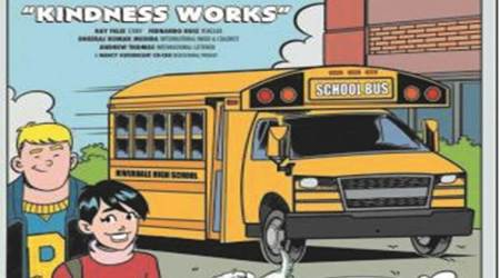 archie comics, scarlet in archie comics, kindness works, moose indian express