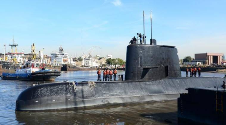 argentina missing submarine, argentina search missing submarine, missing submarine, search for missing submarine, argentina navy search missing submarine, indian express news