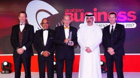 Colm McLoughlin receives the coveted Arabian Business Achievement Award