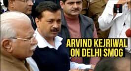 Arvind Kejriwal Meets M L Khattar On Delhismog