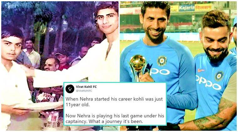 Ashish Nehra Virat Kohli S Then And Now Picture Will Take