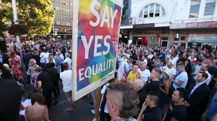 australia, gay marriage, equal rights, same sex marriage, LGBT, LGBTQ, world news, indian express