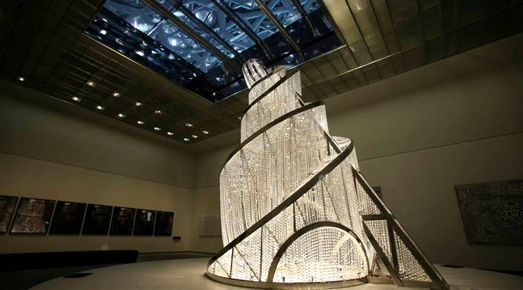 Louvre Abu Dhabi, French President Emmanuel Macron, Emmanuel Macron, cultural achievement, Culture Authority, Arabian Peninsula, Louvre in Paris, Gothic Bible, Buddhist sutras, indian express, indian express news