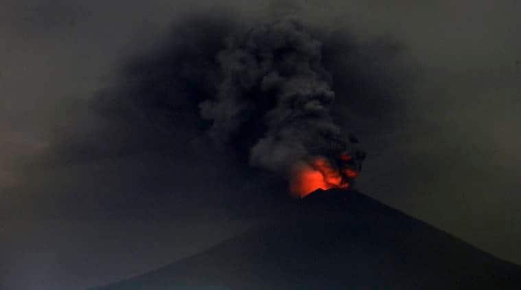 Sushma Swaraj, Sushma Swaraj Bali, Bali volcano eruption, Bali volcano, Mount Agung, India news, Indian Express news
