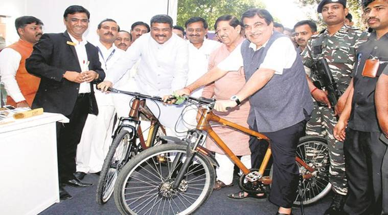 bamboo cycles, bamboo cycles pune, bamboo india make cycles, ren a cycle scheme, bamboo made cycles, indian express news