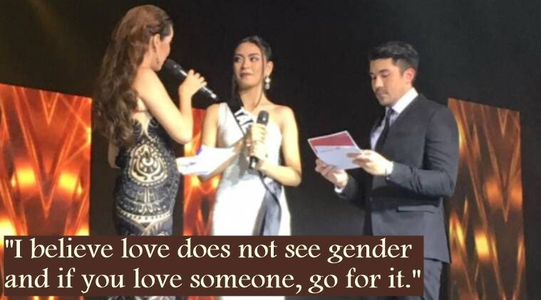 beauty pageant, Philippines beauty pageant, contestant talks about girlfriend, contestant has a girlfriend, Indian express, Indian express
