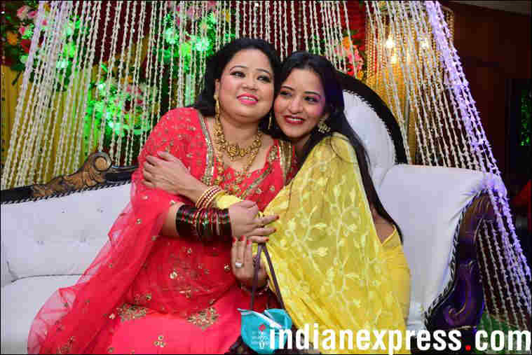 photos of bharti singh at her bangle ceremony
