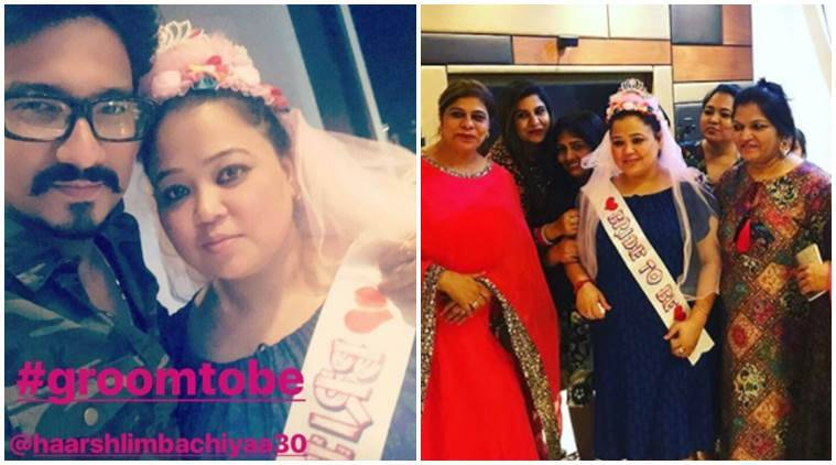 bharti singh, Bharti Singh bridal shower, Bharti Singh bridal shower photos, Haarsh Limbachiyaa, Bharti Singh wedding