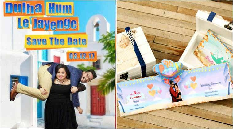 bharti singh, bharti singh wedding card, bharti haarsh wedding card, bharti harsh wedding card, bharti singh wedding date,