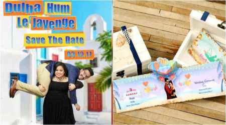 Bharti Singh and Haarsh Limbachiyaa's wedding card is here and it's as cool as the couple