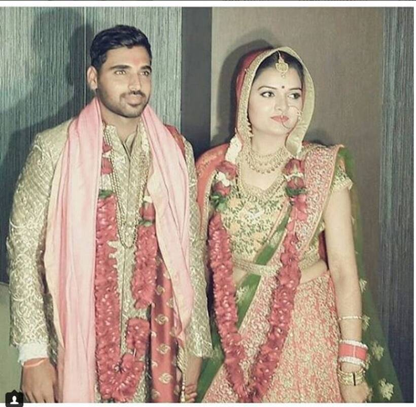 Bhuvneshwar Kumar and Nupur Nagar's marriage