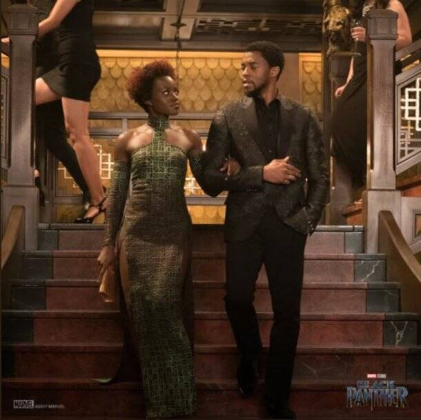 marvel black panther starring chadwick boseman and lupita nyoong