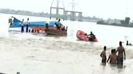 vijaywada boat capsize, Krishna river boat capsize, Andhra Pradesh boat capsize, andhra news, india news, latest news