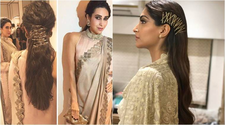 karishma kapoor hair style get creative try out bobby pin this wedding season 5728