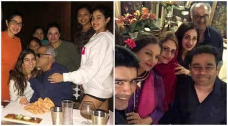 Sridevi, Boney Kapoor, Boney Kapoor birthday party, Boney Kapoor birthday party inside photos, Khushi kapoor, Jhanvi kapoor, Shabana Azmi, A R Rehman, Manish Malhotra