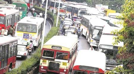 pmpml bus operators, pmpml harass private bus operators, bus operators pune pay fine, pmpml impose heavy fines, heavy fines on pvt. bus operators, indian express news