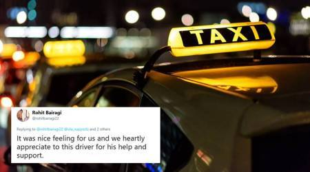 This man complimented Pune cab driver who stopped car for road accident victims