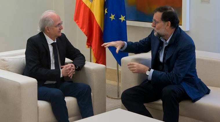 Ousted mayor of Caracas city reaches Spain after fleeing Venezuela