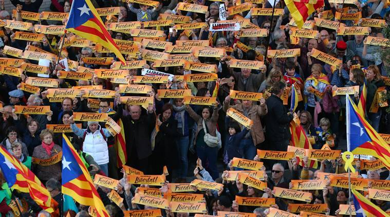 catalonia, catalan protest, all about catalan protest, Barcelona protests, Catalan independence, Catalonia Spain split, carles Puigdemont, separatist Catalans, world News, Indian Express